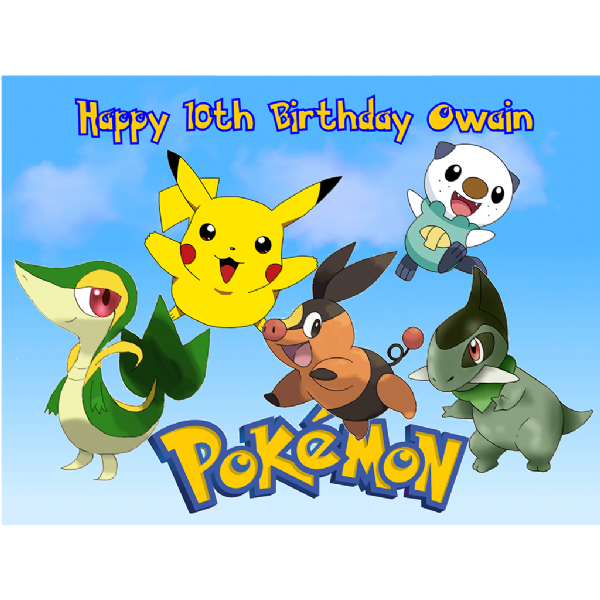 POKEMON A4 CAKE TOPPER